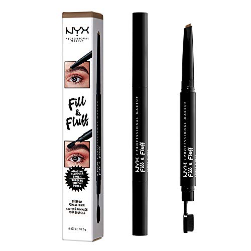 NYX PROFESSIONAL MAKEUP Fill & Fluff Eyebrow Pomade Pencil, Taupe