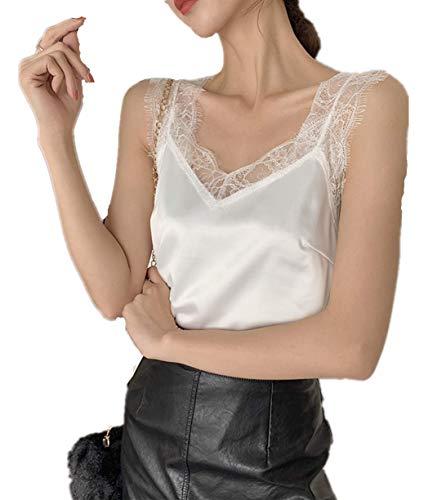 Lente 2020 nieuwe sexy kanten v-hals losse losse bandjes, vrouwelijk binnenvest, bovenkleding