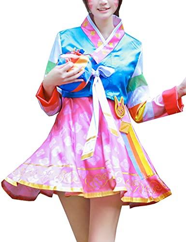 O-vE-Rw-At-Ch Cosplay Kostüm - Damen Hanbok Halloween Karneval Party Cosplay Outfit Anzug für Mädchen