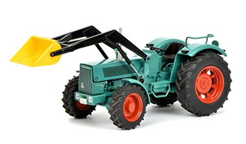 Schuco 450779900 - Hanomag Robust 900, Traktor mit Frontlader, Modellauto, 1:32