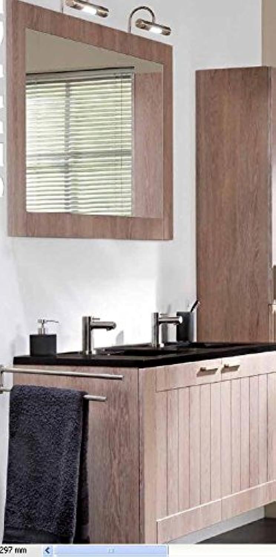 Tiger Frames Badmbel Set 120 cm Waschtischunterschrank mit 2 Türen und Spiegel