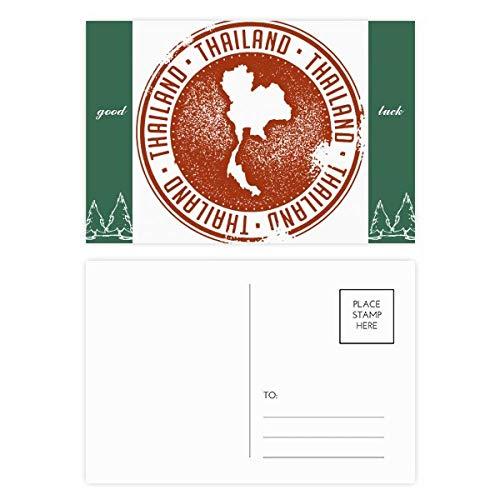 DIYthinker Thaise cultuur Ik hou van Thailand kaart goed geluk Postkaart Set kaart Mailing Side 20 stks 5.7 inch x 3.8 inch Multi kleuren