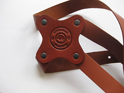 Armadillo Tan Leather Shoulder Holster Right Hand Draw for Beretta Models 92F 96F Brigadier M9