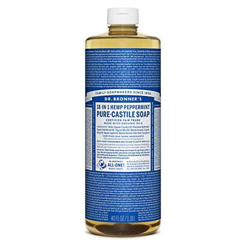 Dr. Bronner's Magic Pure-Castile Soap, Value 40 Ounce Bottle, 18-in-1 Hemp Peppermint