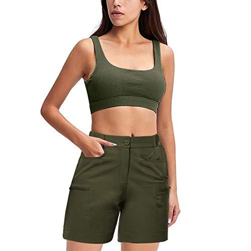 DeaAmyGline Cargo Shorts Damen Kurze Hose mit Tasche Outdoor Golf Shorts Sommer Frauen Sweatshorts Jogginghose Laufshorts Sportshorts Wandershorts
