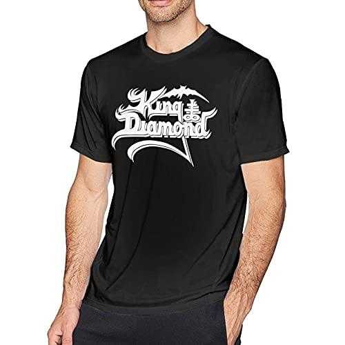Xucherry Ki-Ng Di-Amond Men Classic Breathable Crew T Shirt Comfortable Short Sleeve Tee Man Casual Tunics Black