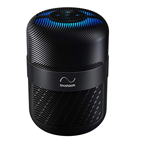 Hepa 13 Air Purifier for Home, Medical Grade Intelligent Air Cleaner for Large Room Bedroom Office, Remove 99.97% Smoke Dust Pets Hairs, Black