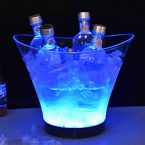6L LED Eiskübel Glühende, Bunte Gradienten Lampe, Flaschenkühler - Sektkühler/Weinkühler/Getränkekühler, für Restaurant Pub Party Supplies Tools