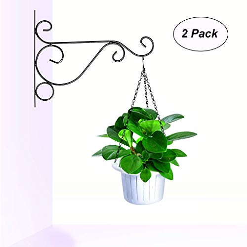 jieGorge Metal Plant Hanging Bracket Hook Sturdy Wall Plant Hangers Indoor Outdoor 2 Pack, Home Products Sales, for Halloween Day (Bronze
