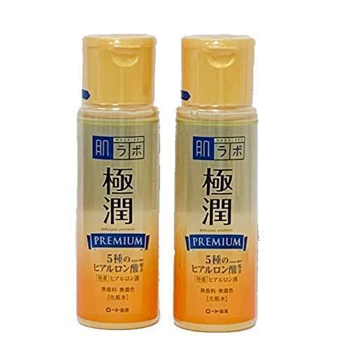 Rohto Hadalabo Gokujyun Premium Hyaluronsäure Lotion 170 ml 2 Flaschen Set