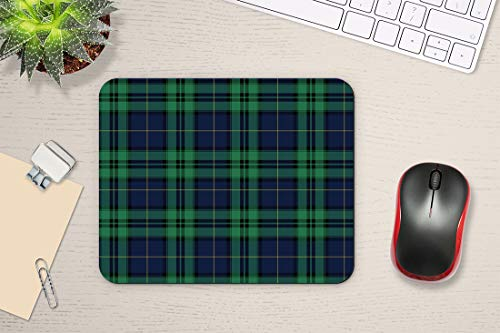 """Swono Green Tartan Mouse Pads Tartan Black Watch Plaid Bias Christmas Shirting Traditional Mouse Pad for Laptop Funny Non-Slip Gaming Mouse Pad for Office Home Travel Mouse Mat 7.9""""X9.5"""" Photo #3"""