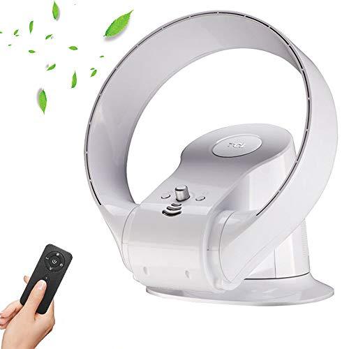 Ventilatore da Parete Senza Pale con Telecomando - Silenzioso Domestico Ventilatore A Muro - Foglia Senza Vento Ventilatore A Muro, Facile da Pulire