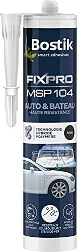 Bostik FIXPRO Fixation MSP 104 Auto & Bateau Noir, cartouche de 290 ml