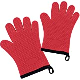 5 Pairs Silicone Oven Gloves, Heat Resistant Silicone Oven Mitts,...