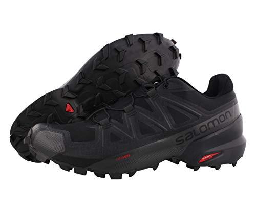 Salomon Speedcross 5, Trail Running Hombre, Negro Black Black Phantom, 46 2/3 EU