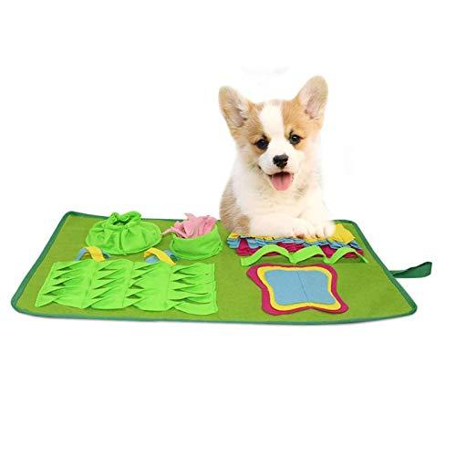 Amo-Lole Alfombrilla para Mascotas, Alfombrilla para El Entrenamiento del Cerebro, para Juguetes De Rompecabezas Que Fomentan Las Habilidades Naturales De Búsqueda De Comida para Gatos Y Perros