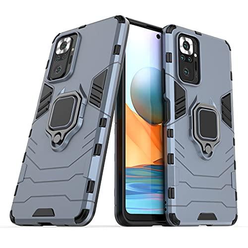 Funda para móvil Xiaomi Redmi Note 10 Pro Carcasa Magnética con Anillo Imán Híbrida Antigolpes Resistente Rígida Dura [Tecnología de Absorción de Golpes] (Xiaomi Redmi Note 10 Pro, Azul Marino