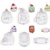 Smosyo Set 3D DIY Cookie Stamp Molde de Galletas Molde de plástico de Dibujos Animados para Hacer Postre Herramienta de decoración de Pasteles