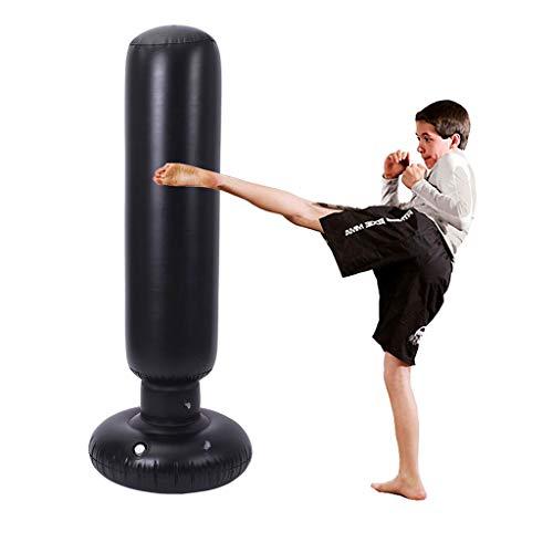AMYAM Boxsack aufblasbar stehend Aufblasbarer Standboxsack Punch Bag Freistehendes Inflatable Boxsack Tumbler Säule Fitness Sandbag Heavy Duty Boxsack for Teens Erwachsene