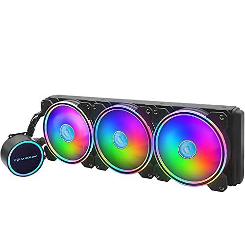 MagiDeal Enfriador para CPU RGB Bomba Mejorada de 120 Mm 3 Ventiladores para LGA LGA1366