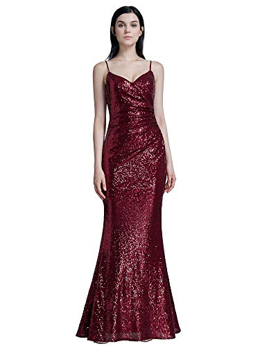 Ever-Pretty Women Sequin Evening Prom Formal Mermaid Gowns 7339