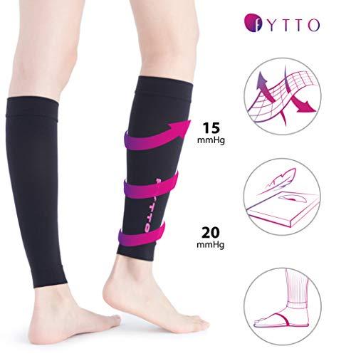 FYTTO 1022 fußlose Kompressionsstrümpfe – Klasse 1 – kniehohe Stützstrümpfe ohne Fuß | medizinische Kompressionsstulpen mit abgestufter Kompression 15 – 20 mmHg | pink | L - 4