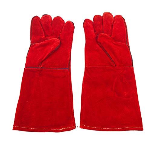 Mignon Lapin 耐熱 グローブ 革製 選べる カラー 手袋 アウトドア キャンプ 焚火 薪 ストーブ グリル BBQ 熔接 作業 (01 Aタイプ)