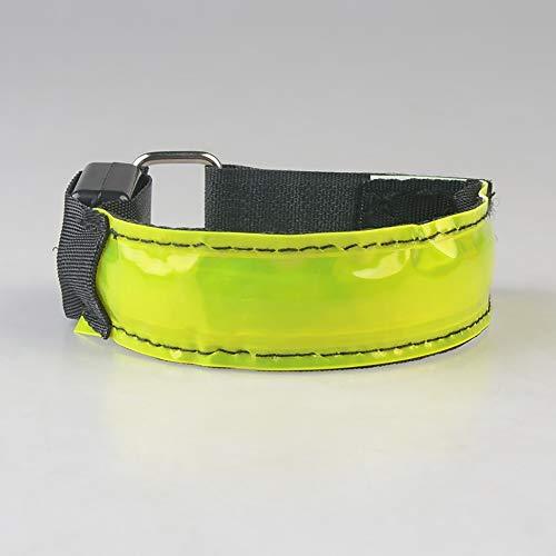 KAILUN LED Brazalete De Flash Pulsera Luminosa En El Pie Carga USB Carrera Nocturna Fluorescente Luz De Advertencia De Seguridad Siete Colores,Yellow