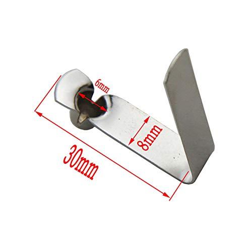 ZRNG 50 Piezas 3-15mm Soltero Botón Clips Bloqueo de Tubo de Resorte Carnetkak Paddle Snap Tent Poste Tols Tels Tubo Tubo Silla Cerradura (Color : 6 mm)