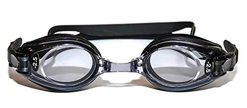 Sports Vision Optische Schwimmbrille für Kinder und Erwachsene, Schwarz, Minus und Plus Powers, UV-Tönung, Kinder im Alter von 6-14 Jahren - Schwarz - Adults +5.00