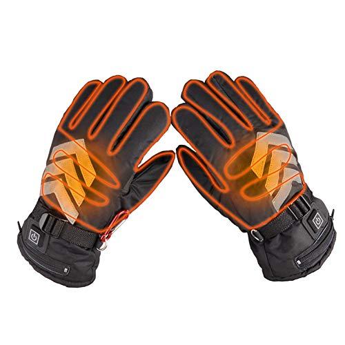 GyfHMY Professionele verwarmde motorhandschoenen met touchscreen-design, 3 warmtestanden, verstelbaar, oplaadbare accu, ideaal voor winterski, wandelen, fietsen, vissen