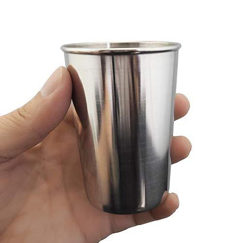 DioLm 30/70/180 / 320ml Edelstahl Abdeckung Camping Cup Outdoor Camp Becher Kaffee Tee Bier Cup Outdoor Reise Camping Ausrüstung, 180ML