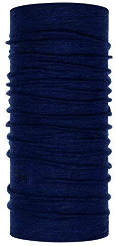 Buff 100% Merinowolle Tuch für Männer Midweight Merino Multifunktionstuch + Ultrapower Schlauchtuch/Unisex/Schal/Kopftuch/Halstuch/Schlauchschal Night Blue Melange - 113022.779.10.00