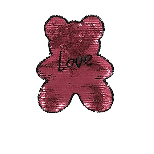 lihe008 Osos de doble cara Preguntas de preliminación de preliminación pegatinas de suéter infantil Chaqueta de parche de chaqueta 2PCS) (Color : 2)