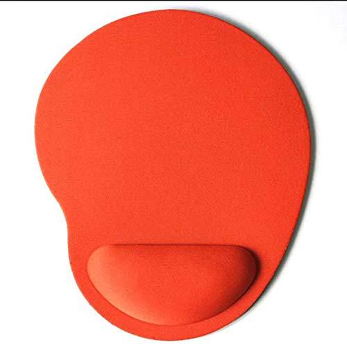 Alfombrilla de ratón con forma de pies pequeños, almohadilla de ratón para muñeca, cómoda alfombrilla de color soild para juegos de ordenador, alfombrilla de ratón creativa EVA suave, 1 pieza naranja