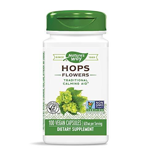 Nature's Way Premium Herbal Hops Flowers, 620 mg per serving, 100 Capsules
