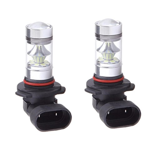 Sharplace 2X Indicateur Ampoule LED 9005 HB3 100W 10000K Bleu Lampe Antibrouillard LED Projector Fog Driving Light