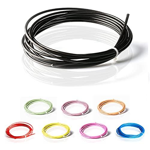 ActiveVikings Springseil Ersatzkabel PVC Schutzmantel mit 2mm Stahlseil | Ersatzseil ist kompatibel mit Anderen Marken (Schwarz)