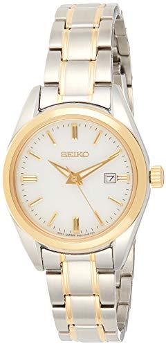Seiko Quarz Damen-Uhr Edelstahl mit Metallband SUR636P1