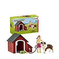 No farmyard can be without a kennel! Adequate storage space for feed and further accessories! Girl with moveable arms! Model number: 42376