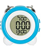 Loud Alarm Clock for Heavy Sleepers Non Ticking Bedside Battery Powered with Snooze