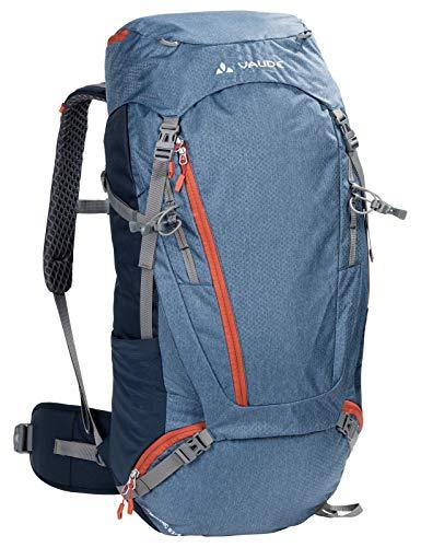 VAUDE Asymmetric 52+8, Zaino per Le Escursioni Verso i Rifugi e per i Trek più Brevi Unisex-Adulto, Fjord Blue