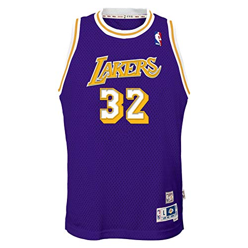 Magic Johnson Los Angeles Lakers Purple #32 Youth 8-20 Throwback Soul Swingman Jersey (10-12)