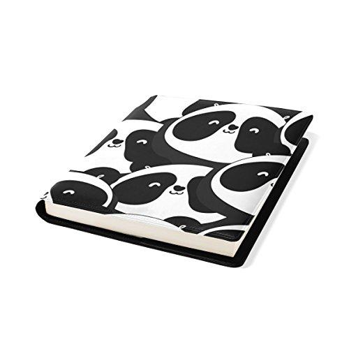 COOSUN Noir et Blanc Panda Pattern Book Cover Sox Stretchable Livre, La Plupart des Fits Relié jusqu'à 9 manuels x 11. adhésif Gratuit, PU Leather School Book Protector 9 x 11 Pouces Multicolore
