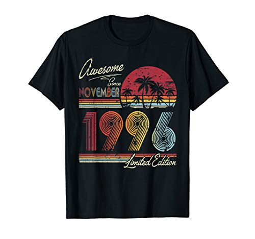 Awesome Since November 1996 24th Birthday Gift 24 Years Old T-Shirt