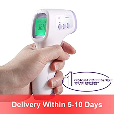Non-Contact Infrared Forehead Thermometer with LCD Display,Instant Reading Digital Thermometer Temperature Measurement,Device for Baby, Adults and and Surface of Objects (Purple)