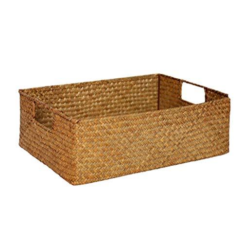 Storage Box Boîte De Rangement, Panier De Rangement De Bureau, Série De Rangement Intérieur pour Le Bureau, Matériel De Sécurité 100% (Color : Yellow, Size : 39cm*29cm*13cm)