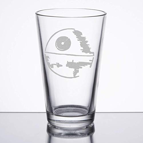 Star Wars - Death Star - Etched Pint Glass