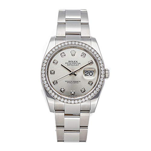 Rolex Datejust Mechanical (Automatic) Silver Dial Mens Watch 116244 (Certified Pre-Owned)