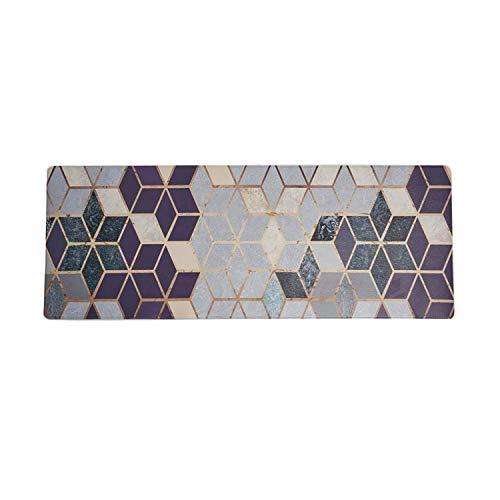 U'Artlines Anti Fatigue Kitchen Floor Mat, Comfort Heavy Duty Standing Mats,Waterproof PVC Non Slip Washable for Indoor Outdoor (20x55Inch, Geometric Patterns)